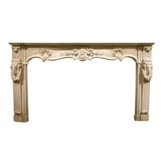 18th Century English Marble Mantel For Sale