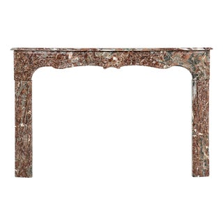 1900s Belle Epoque Marble Fireplace Mantel For Sale