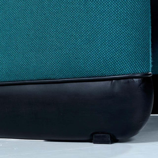 Jan Ekselius Style Modern Modular Teal Tweed Sectional Sofa Seating - Set of 10 For Sale - Image 12 of 13