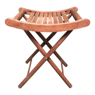 Portable Vintage Camping Stool