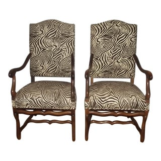 19th Century Louis XIII Style Armchairs - a Pair For Sale