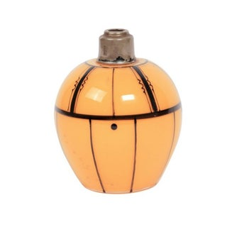 Czech Art Deco Tangerine Perfume Bottle For Sale