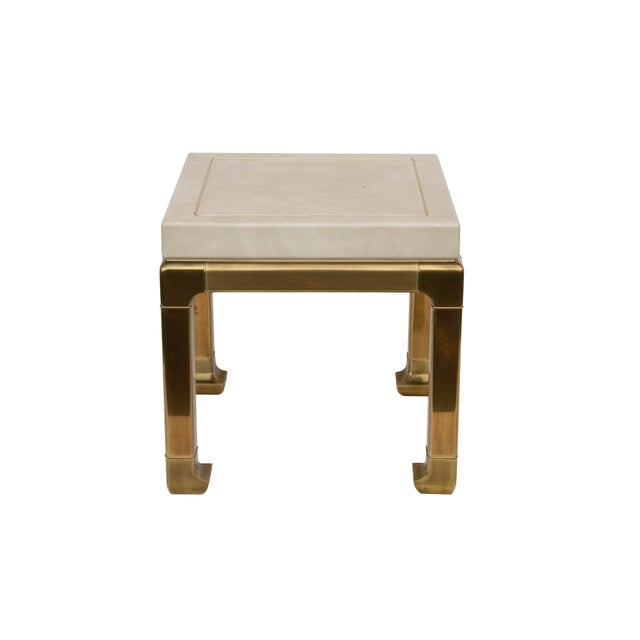 Ming Style Brass and Ivory End Table by Mastercraft For Sale - Image 6 of 11