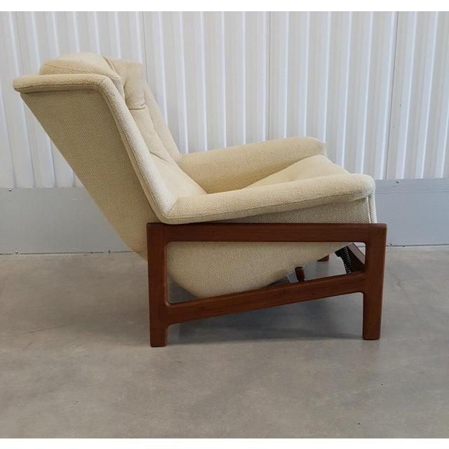 Surprising Mid Century Dux Recliner Rocker Lounge Chair Chairish Machost Co Dining Chair Design Ideas Machostcouk