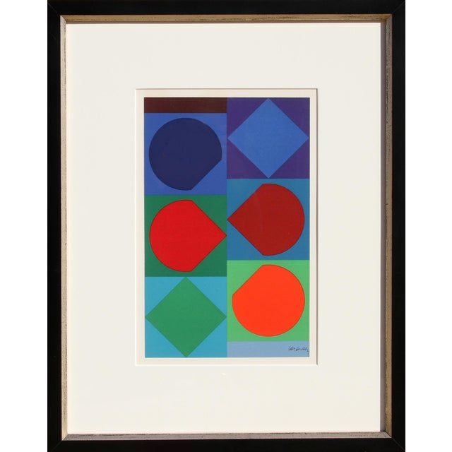 Victor Vasarely Beryll, Framed Geometric Lithograph For Sale - Image 4 of 4
