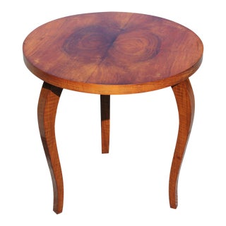 1940s French Art Deco Side or Accent Table For Sale