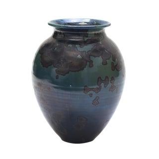 Green and Black Ceramic Vase