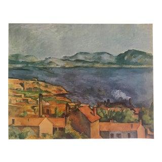 "Paul Cezanne Rare Vintage 1952 Authentic Lithograph Print, ""The Bay From L'Estaque"" 1886"