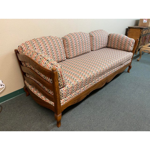 French Country Thomasville French Country Reproduction Sofa /Daybed For Sale - Image 3 of 12
