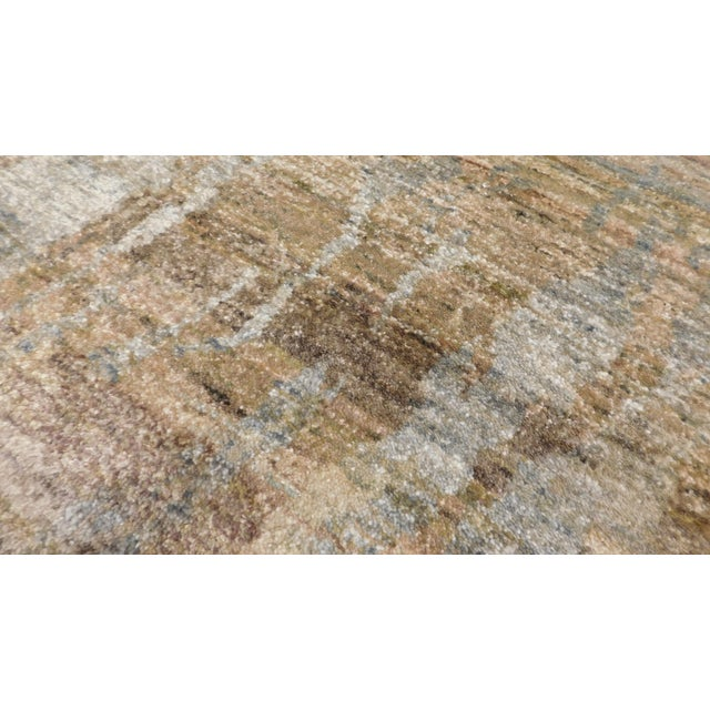 "Abstract Hand-Knotted Rug - 8′ × 9′11"" - Image 10 of 10"