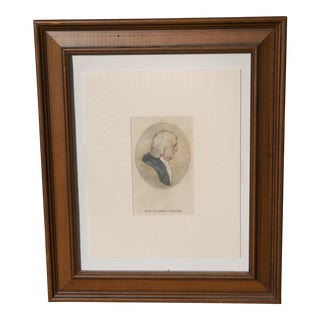 18th Century Benjamin Franklin Hand-Colored Etching by T. Holloway For Sale