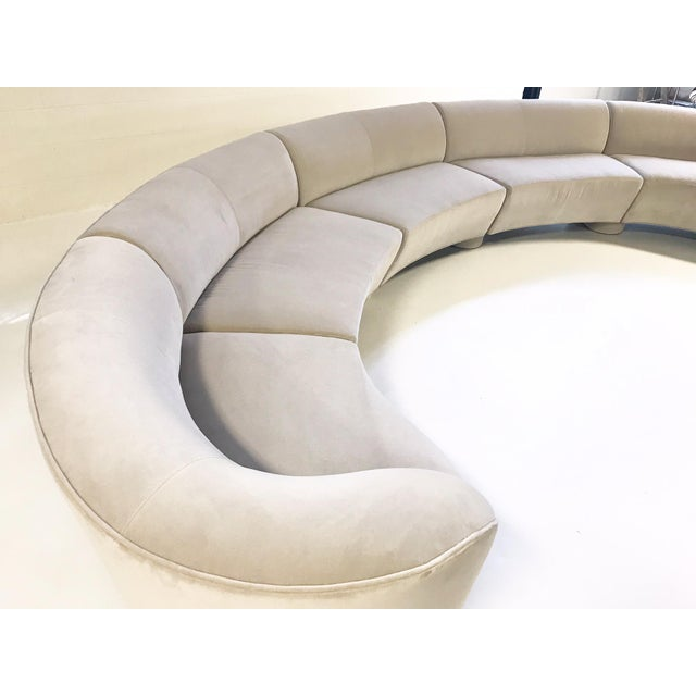 Late 20th Century Vintage Vladimir Kagan for Directional Cloud Sofa Restored in Loro Piana Grey Velvet For Sale - Image 5 of 10