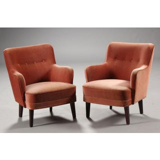 1940s Vintage Danish Modern Rose Armchairs - a Pair Preview