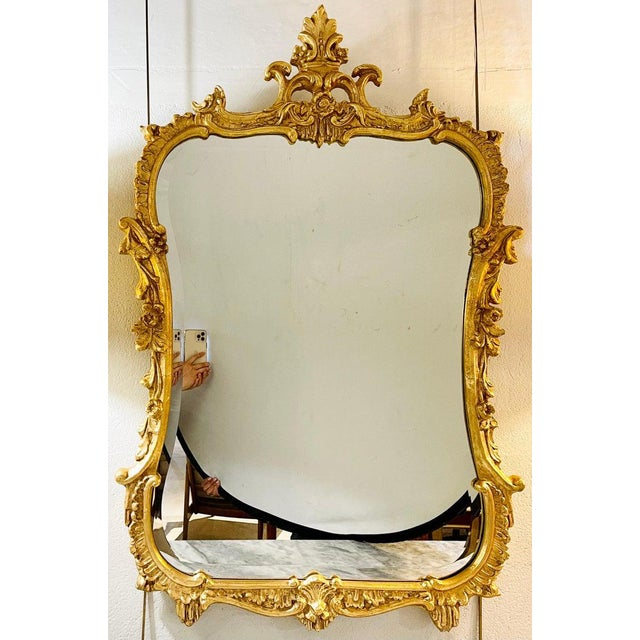Chippendale Fashioned Console Mirror by Friedman Bros For Sale - Image 4 of 11