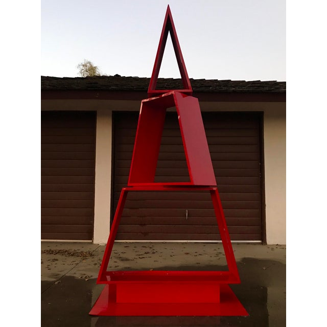 Red Abstract Sculpture For Sale - Image 11 of 11