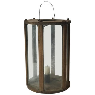 Late 19th Century Swedish Round Wooden Lantern For Sale