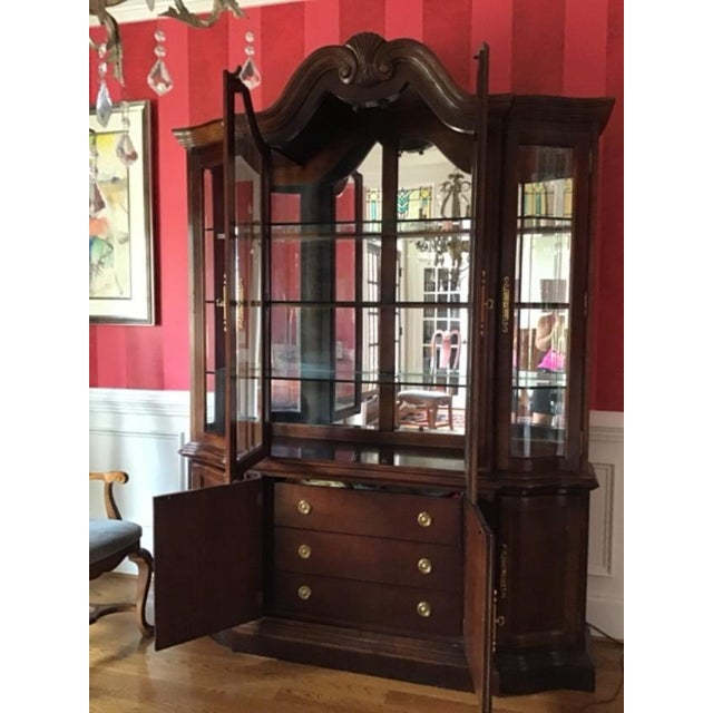 Metal Bernhardt Mahogany Breakfront China Cabinet For Sale - Image 7 of 12