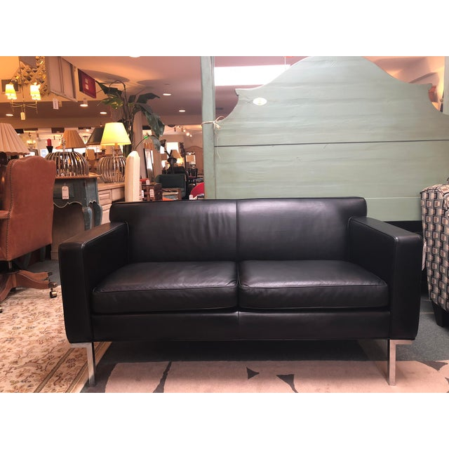Design Within Reach by American Leather Ted Boerner Theatre Two-Seat Sofa For Sale - Image 13 of 13