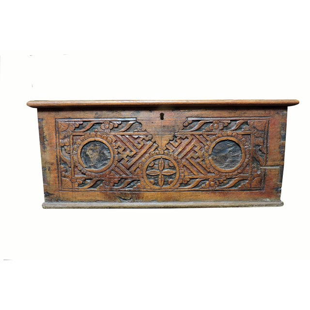 Late 19th Century Indonesian Wooden Box For Sale - Image 5 of 5