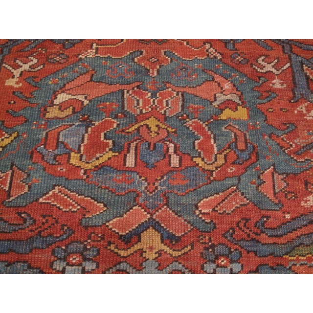 Early 19th Century Antique Oushak Carpet For Sale - Image 5 of 8