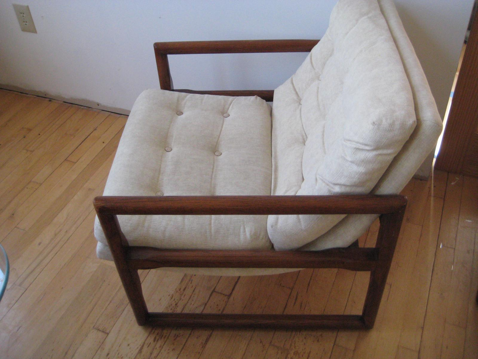 FABULOUS MILO BAUGHMAN Midcentury Cube Chair From The Early 1970s. This  Chair Was In Storage