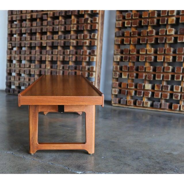 """1960s Vintage Teak """"Krobo'' Bench by Torbjørn Afdal for Bruksbo For Sale - Image 10 of 11"""