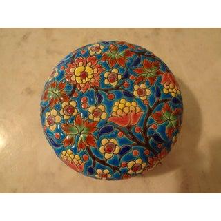 1920's Antique Emaux De Longwy French Porcelain Box Preview