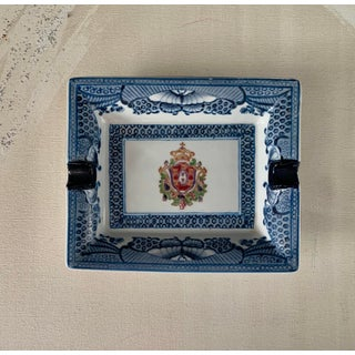 Rectangle Ceramic Blue Butterfly Border Ashtray Preview