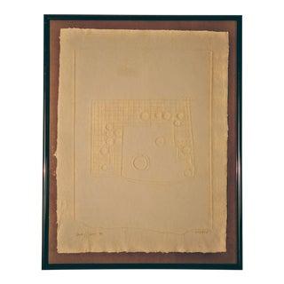Jerome Iowa and Ann Zinn Pueblo Series Handcast Paper Relief Print For Sale