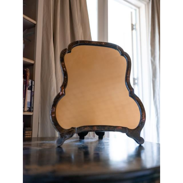 George II, circa 1750 (England) (A nearly identical mirror (Japanned Easel Toilet Mirror) sold by Sothebys London 1993)