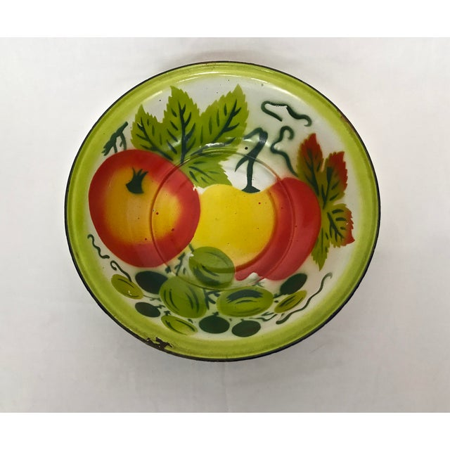 Green 1960s Enamel Kitchen Accessories - Set of 5 For Sale - Image 8 of 10