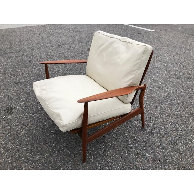 Selig Danish Modern Spear Chair IB Kofod Larsen For Sale - Image 4 of 4