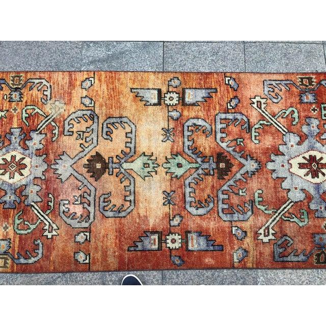 Turkish Handmade Hallway Runner Rug For Sale In Austin - Image 6 of 10
