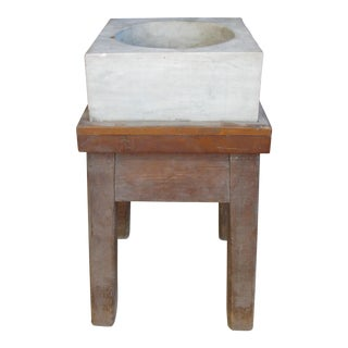 Antique 19th Century Marble Mortar From a Newport Ri Estate For Sale
