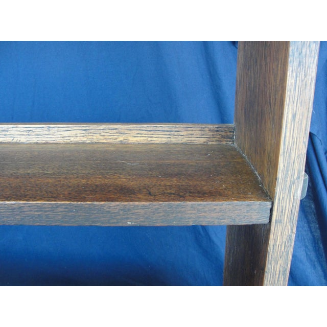 20th Century Mission Oak 3-Tier Book Shelf For Sale In Tampa - Image 6 of 9
