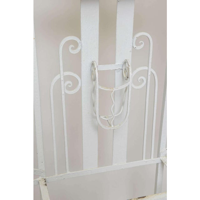 1930s Art Deco French Iron Entry Hall Stand For Sale - Image 5 of 11