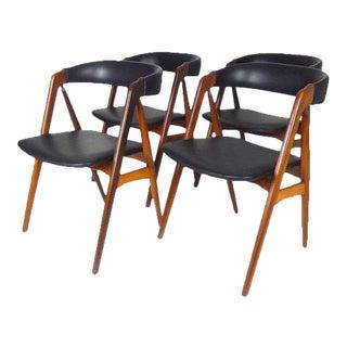 Danish Modern Teak Model 205 Dining Chairs by Th. Harlev for Farstrup Møbler - Set of 4