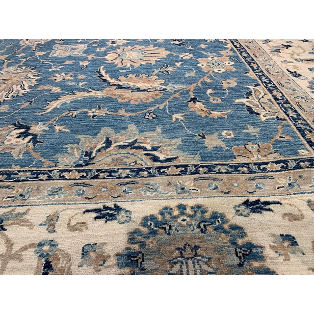 This is a hand-knotted Tabriz Design Rug. Made from hand-spun wool and all natural dyes. This rug is handmade from...