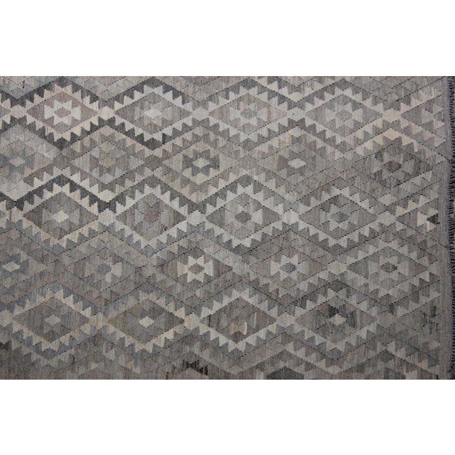 """Modern Hand-Knotted Modern Kilim by Aara Rugs - 9'7"""" x 7'1"""" For Sale - Image 3 of 6"""