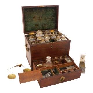 Late 19th Century English Mahogany Apothecary Box For Sale