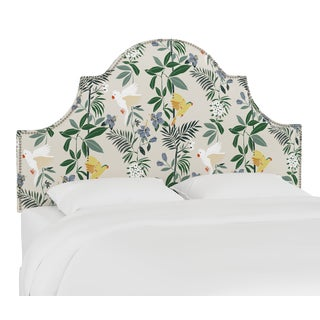 Queen Headboard, Belize Chinoiserie Cream For Sale