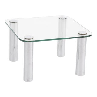 Petite Leon Rosen for Pace Chrome Side Table For Sale