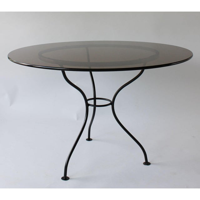 Black Mid-Century Iron Tripod Table For Sale - Image 8 of 8