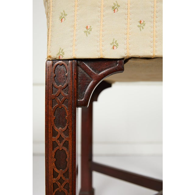English Chinese Chippendale Style Mahogany Stool For Sale - Image 10 of 13