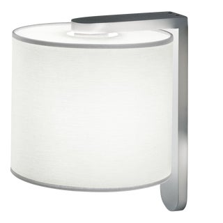 Aluminium Wall Light With Cotton Shade For Sale