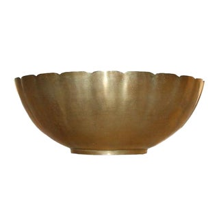 Brass Scalloped Bowl