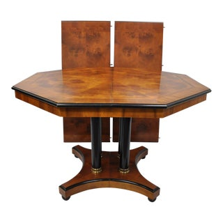 Empire Style Pedestal Octagonal Dining Table