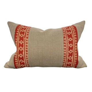 20th Century Indian Block Printed Pillow For Sale