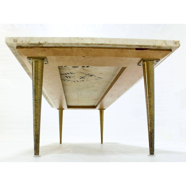 Early 20th Century Mid-Century Modern Marble Coffee Table For Sale - Image 5 of 8