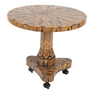 Early 19th Century Continental Parquetry Center Table For Sale
